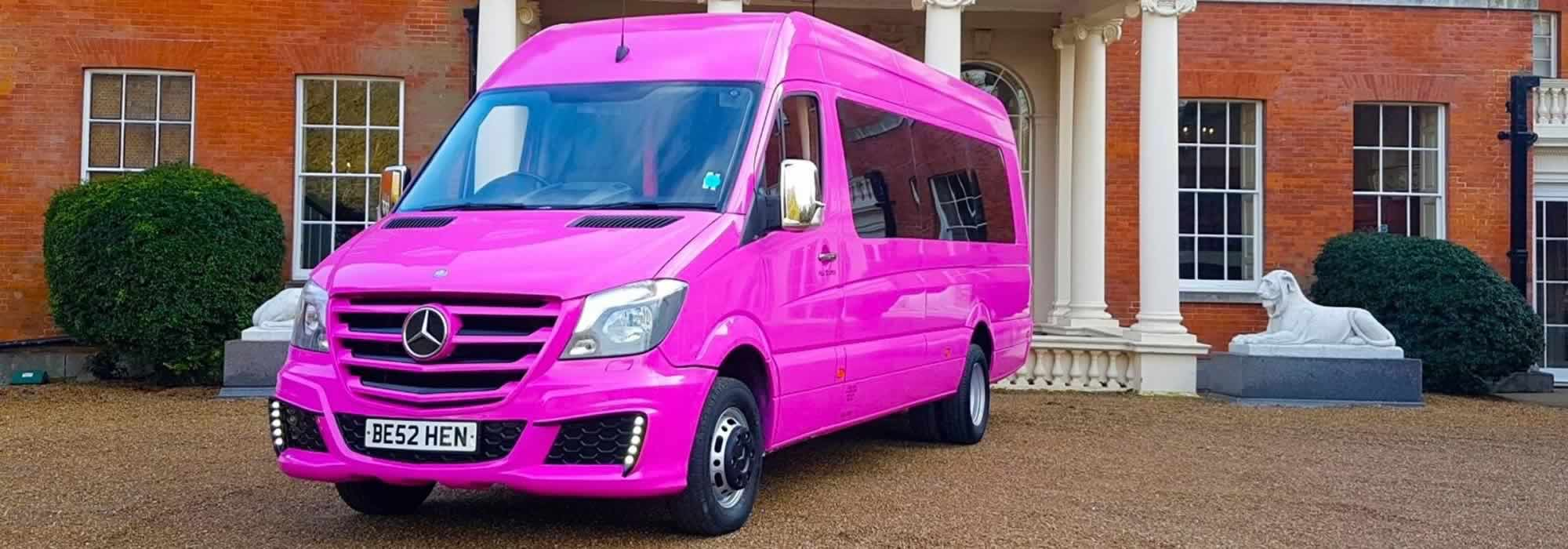 Pink Party Bus Luxury Hire From Herts Limos