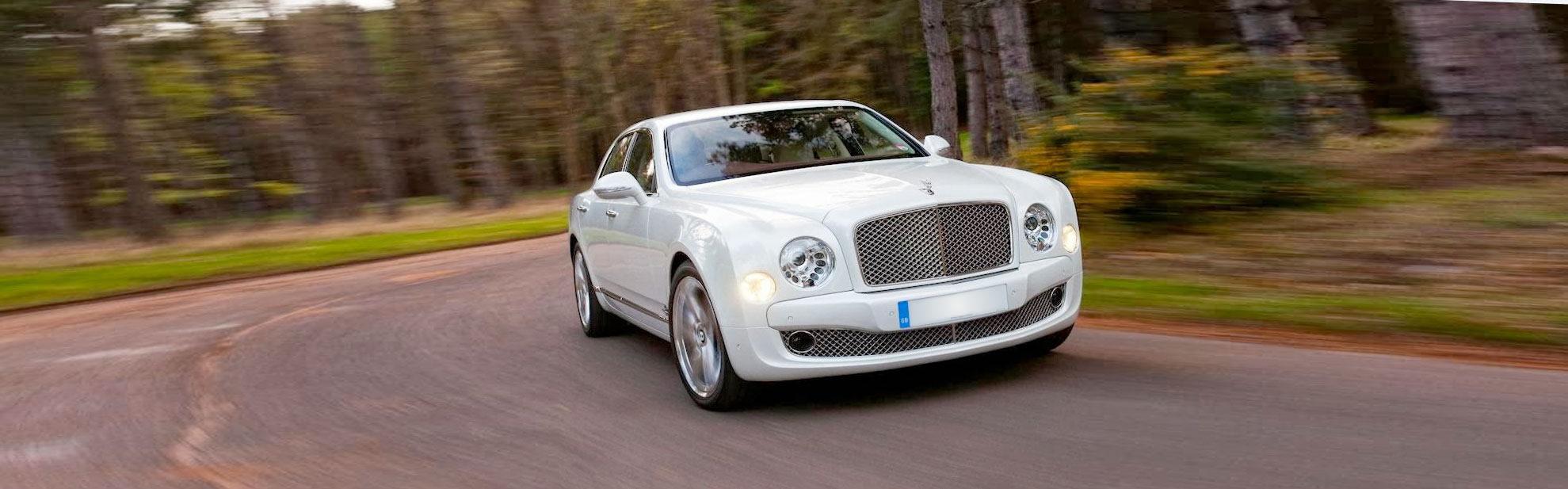 white Bentley Mulsanne hire