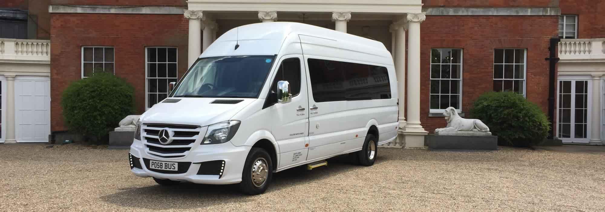 Mercedes white party bus